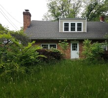 Abandoned House Or Ruins With Tall Grass