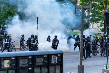 Teargas Used During Demonstrat...