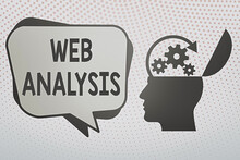 Writing Note Showing Web Analy...