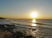 Aerial Sunrise Over The Famous Granny Pool In Ballito South Africa