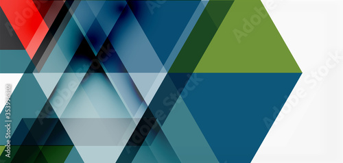 Geometric abstract background, mosaic triangle and hexagon shapes Wallpaper Mural
