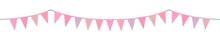 Triangular Flags In Pink Tones...