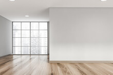 Empty Grey Living Room Interior