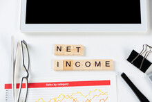 Net Income Concept With Letters