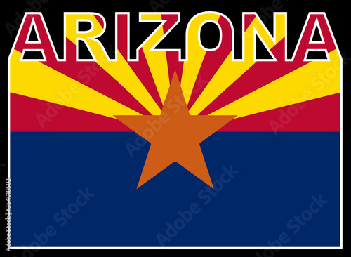 Arizona Text Flag Canvas Print