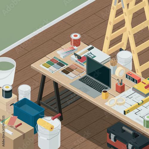 Fototapeta DIY, home renovation and interior design obraz