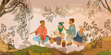 Ancient China. Oriental People...