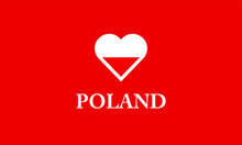 Poland Heart Love Symbol Flag ...