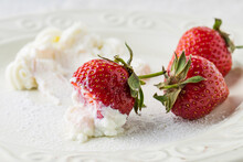 Fresh Strawberry With Whipped ...
