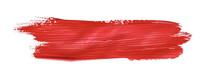 Red Colored Brush Stroke Paiti...