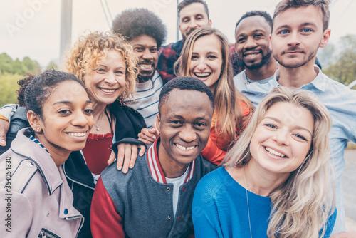 Fotografie, Obraz Group of diversity people