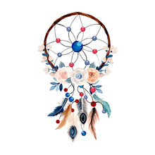 Watercolor Dream Catcher With ...