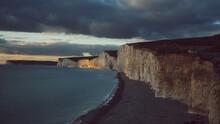 Sunset Over Cliffs