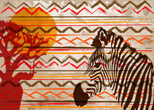 African Print Fabric, Ethnic H...