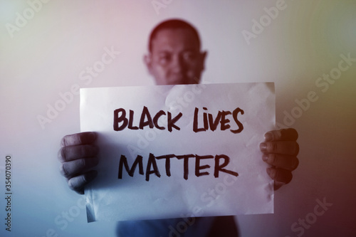 Vászonkép Black lives matter, fight against racism