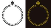 Snow Flake Round Frame Design ...