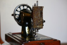 Vintage Sewing Machine Side View
