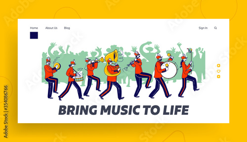 Fotografia Orchestral March Parade Landing Page Template
