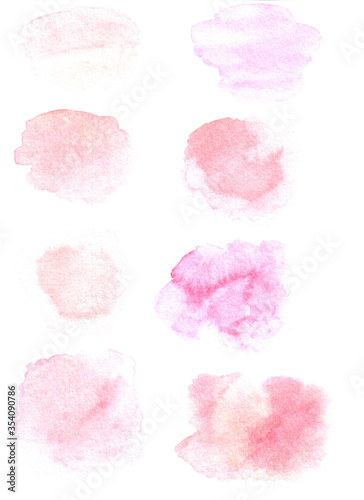 Vászonkép Watercolor spots in pink and powdery colors