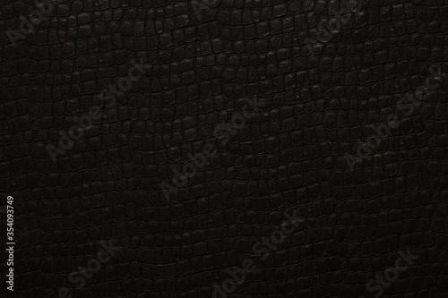 Obraz na płótnie Black leather snake skin texture