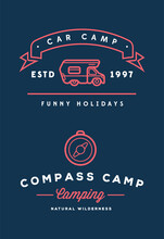 Summer Holidays With Rv Car Home. Vector. Concept For Shirt Or Patch, Print, Stamp Or Tee.