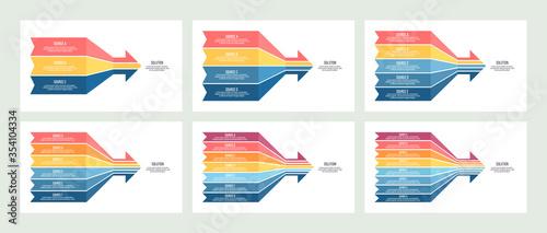 Business infographic Wallpaper Mural