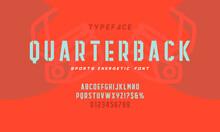 Vintage Octagonal Alphabet. Retro Basketball Typeface And Sport Logotype. Sport Jersey Font. Vector Illustration.