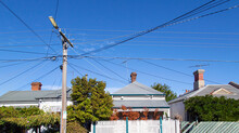 A Row Of Detached Houses In A ...