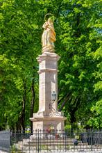 Marian Column With Virgin Mary...