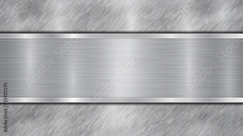 Background in silver and gray colors, consisting of a shiny metallic surface and Canvas Print