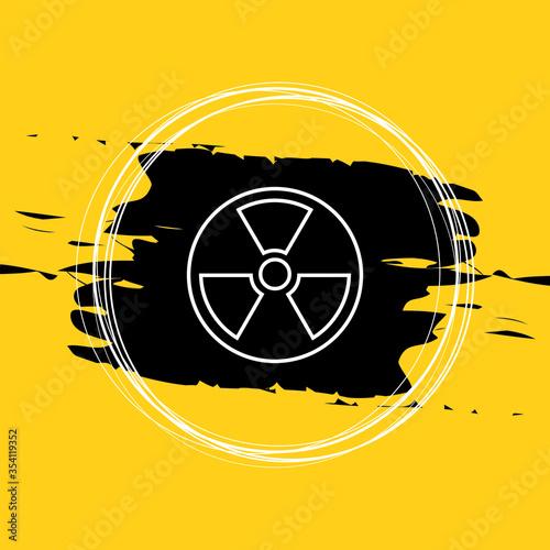Radioactive Icon Vector Illustration Eps10 Wallpaper Mural