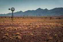 Windmill In Front Of Wilpena P...