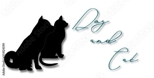 Photo Hund und Katze, Illustration