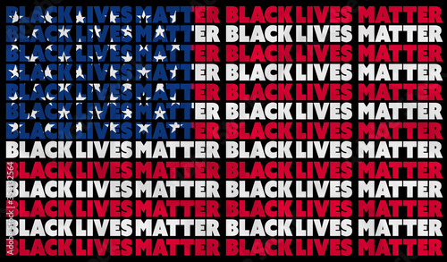 A Black Lives Matter (BLM) graphic illustration for use as poster to raise awareness about racial inequality Tapéta, Fotótapéta