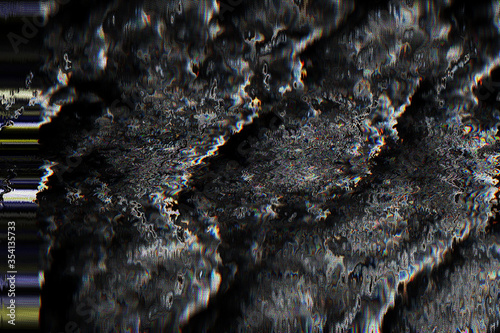 Fototapeta Texture background retro raster noise glitch pixel rewind poster music abstract