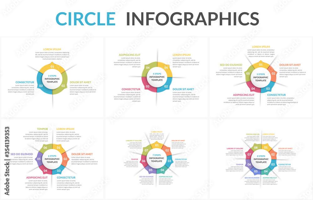 Fototapeta Circle Infographics