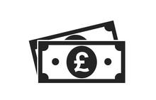 British Pound Sterling Bill Icon