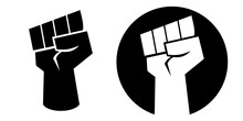 Icon Symbol Of A Clinched Fist