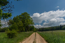 Pasture Land And Meadows Near Studanka Village In West Bohemia