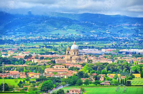 Widok miasta Asyż, Włochy - fototapety na wymiar