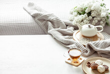Cozy Spring Composition With T...