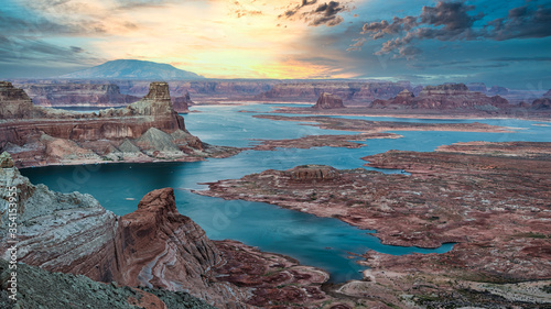 Glen Canyon National Recreation area, Alstrom point at sunset Canvas Print