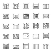 Fence, Icon Set. Fencing Made ...