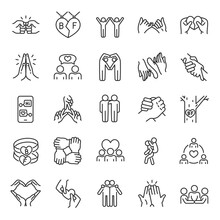 Friendship, Icon Set. Communic...