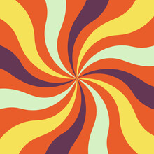 An Abstract Retro Swirl Shape ...