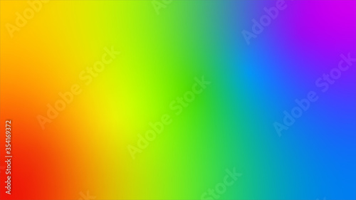 Fototapeta Rainbow color blurred radient with lights us background with copy space for graphic design, poster and banner. Gay Pride LGBT concept obraz