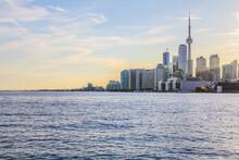 The Toronto Skyline At Sunset