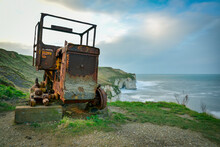 Rusting  Tractor Engine Once U...