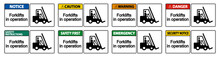 Forklifts In Operation Symbol ...