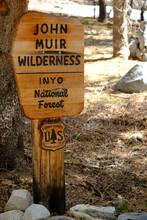 John Muir Wilderness Signpost